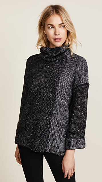 Splendid Morrow Cowl Loose Knit Sweater