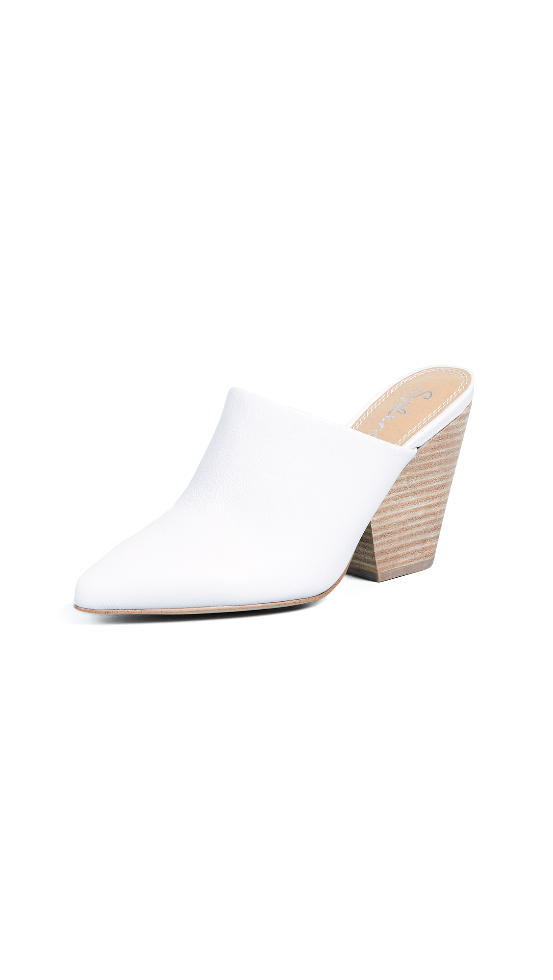 Splendid Nala Block Heel Mules - Snow White
