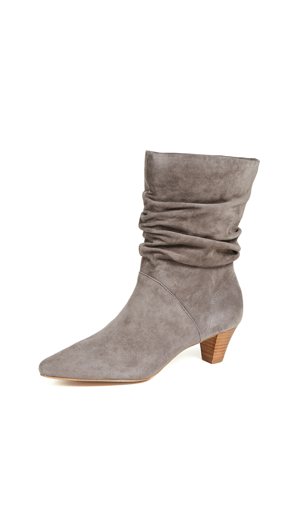 Splendid Nica Scrunchy Boots In Light Charcoal