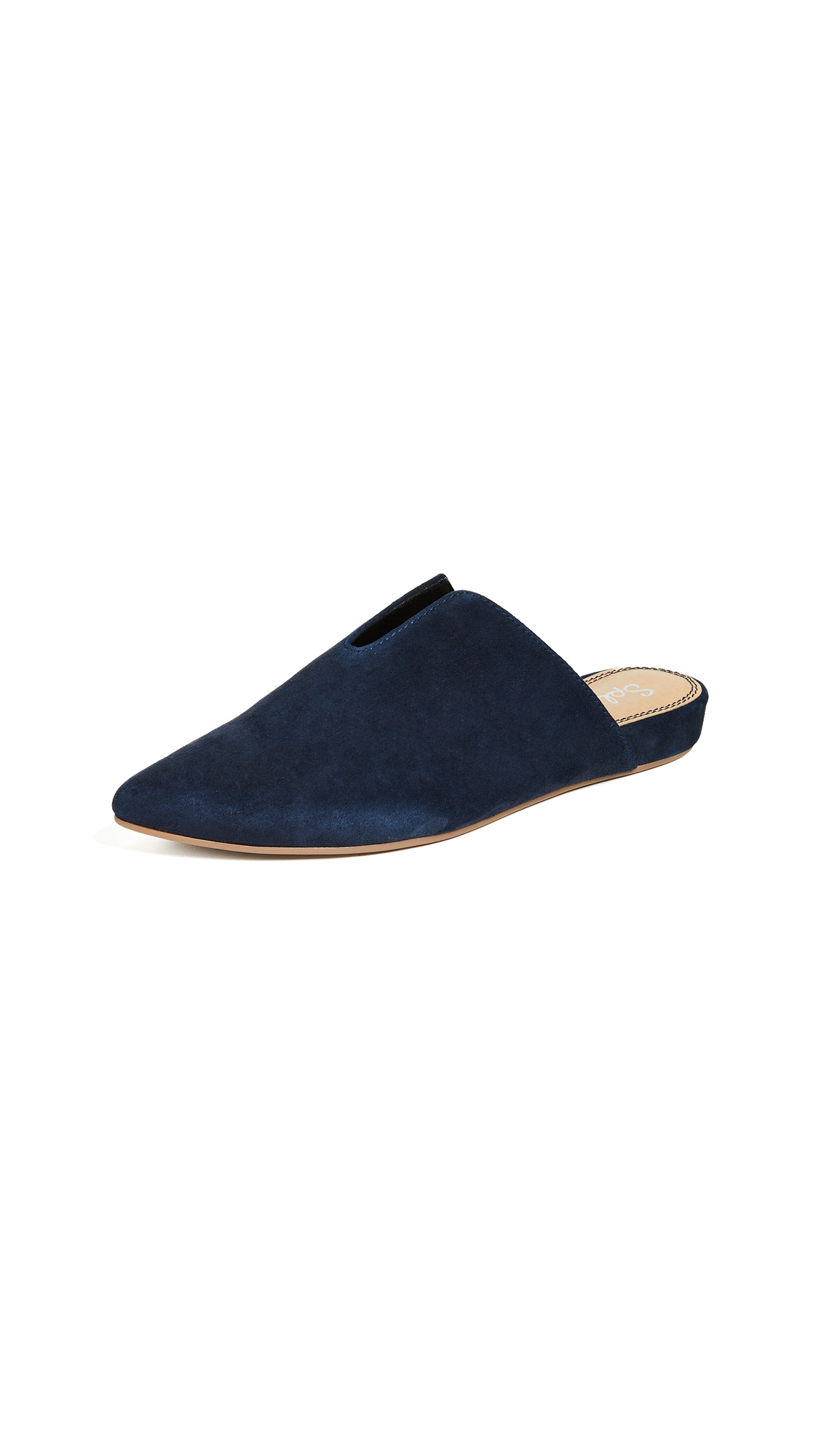 Splendid Nieves Point Toe Mules - Navy