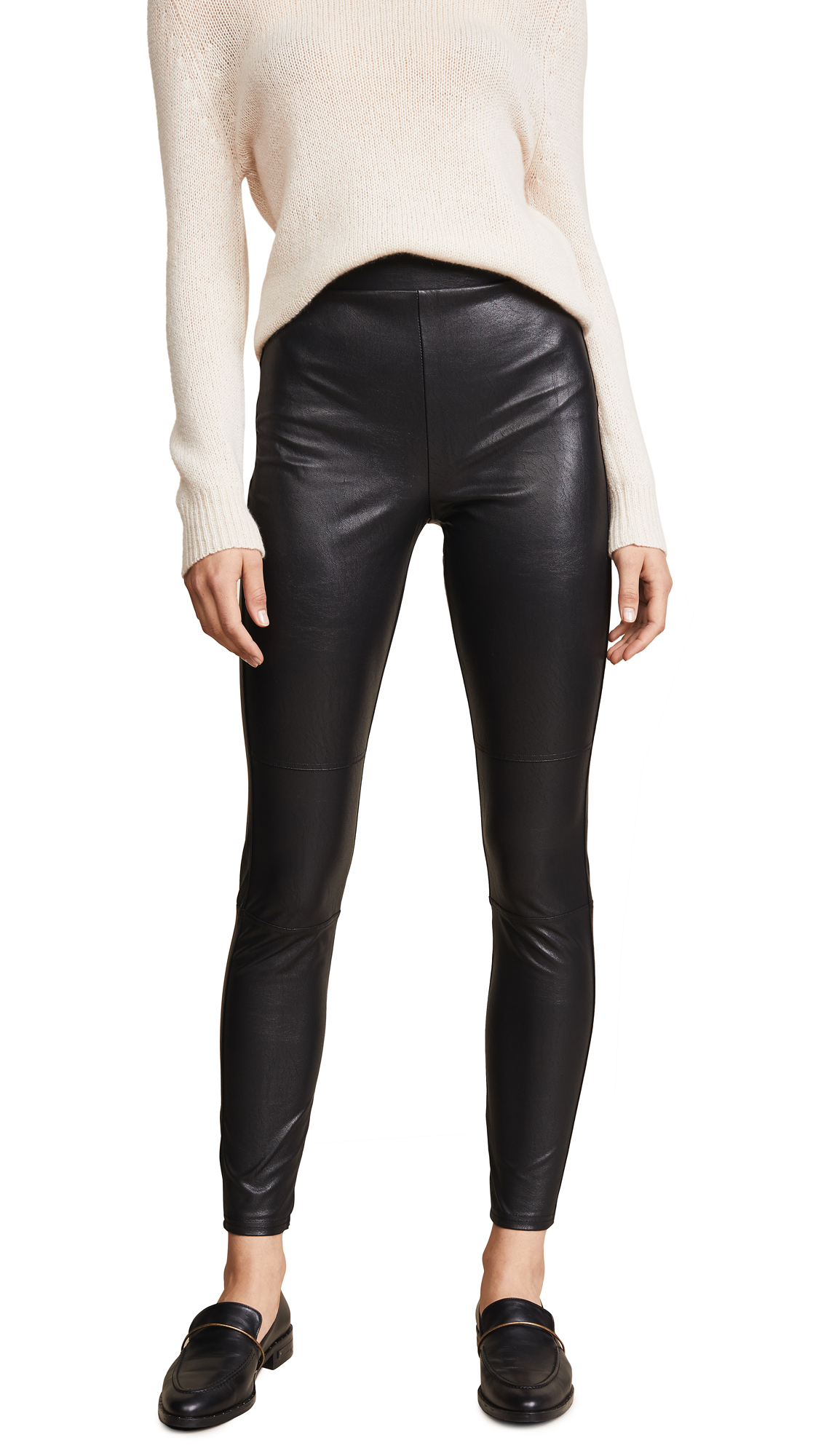 Splendid Downtown Faux Leather Leggings In Black