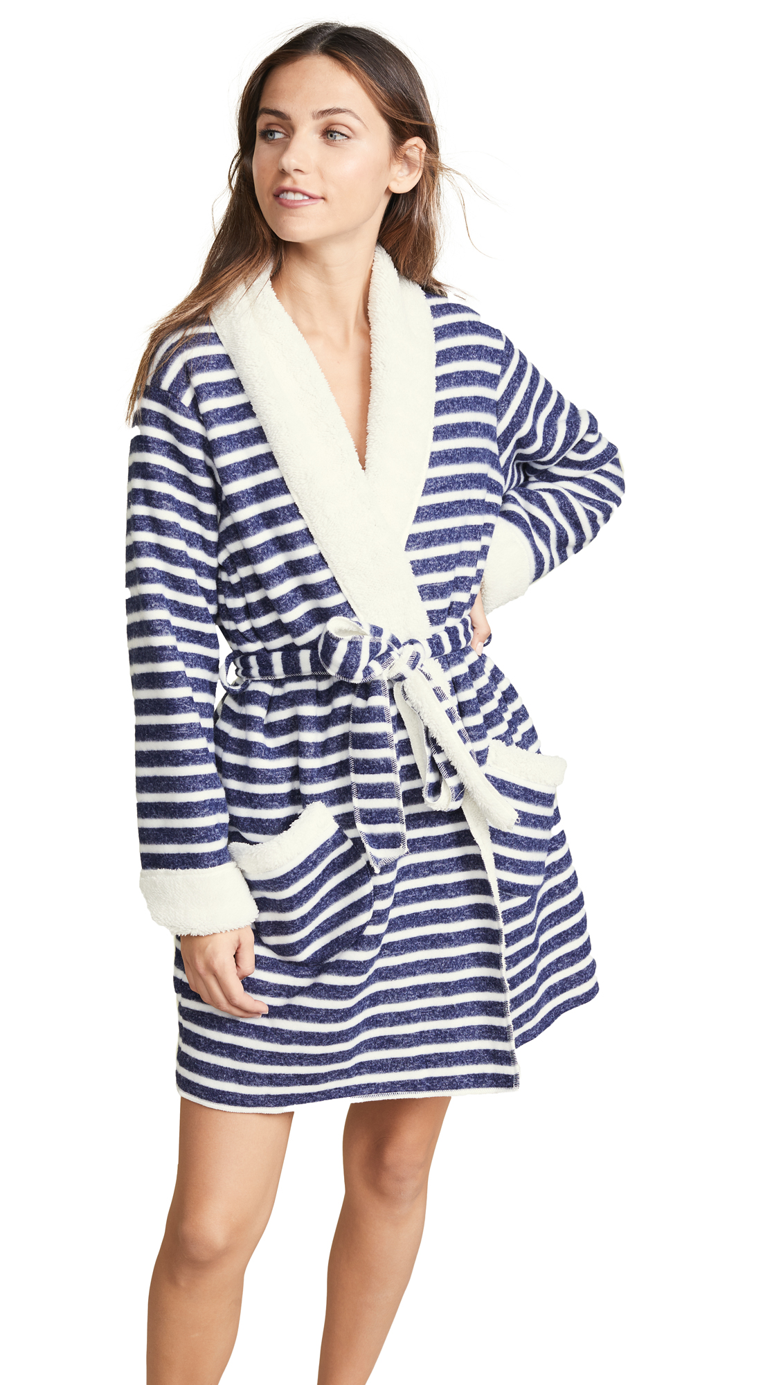 Splendid PJ Robe - Weekend Stripe Midnight Navy