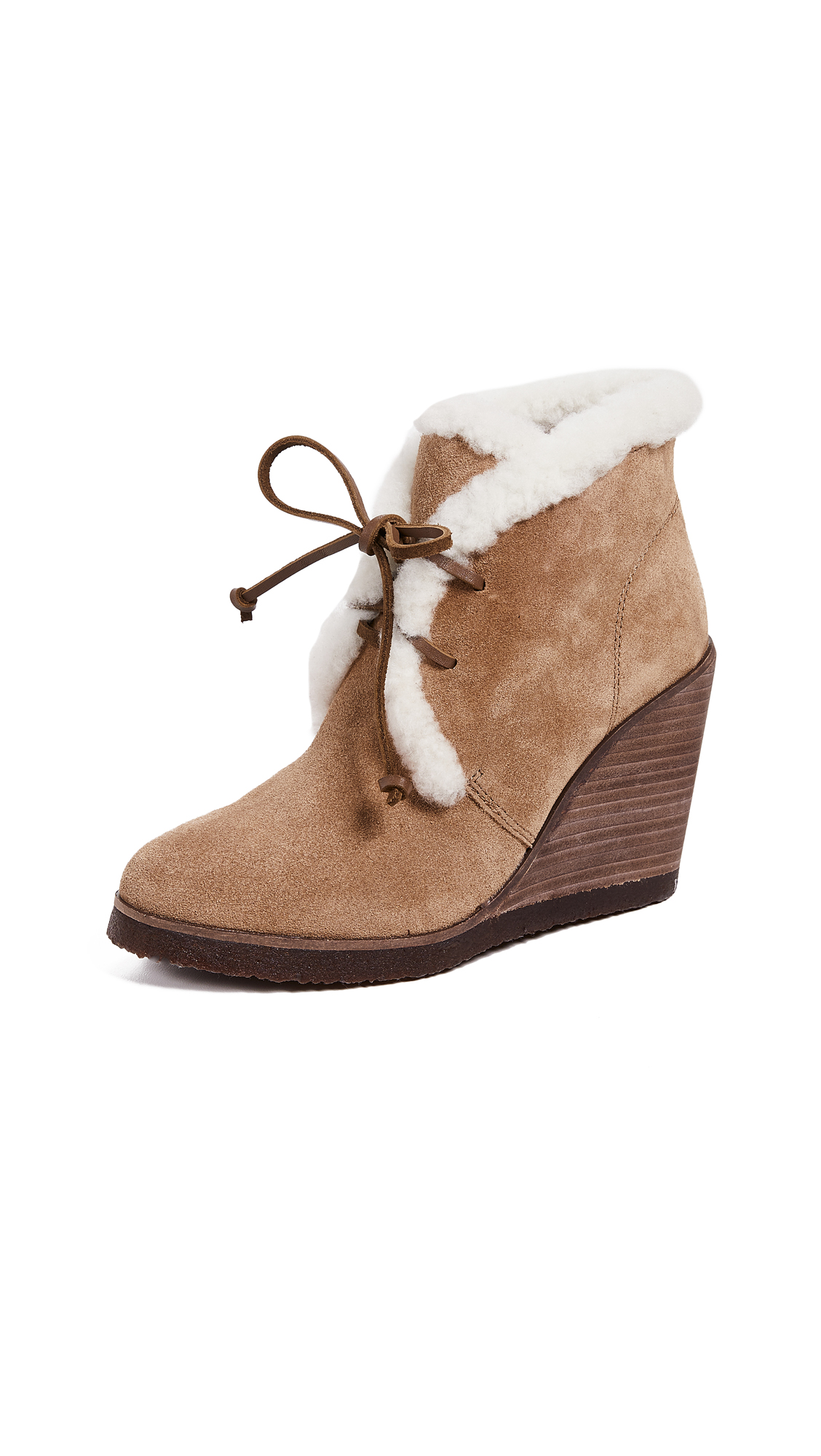 Splendid Catalina Sherpa Booties - Light Brown