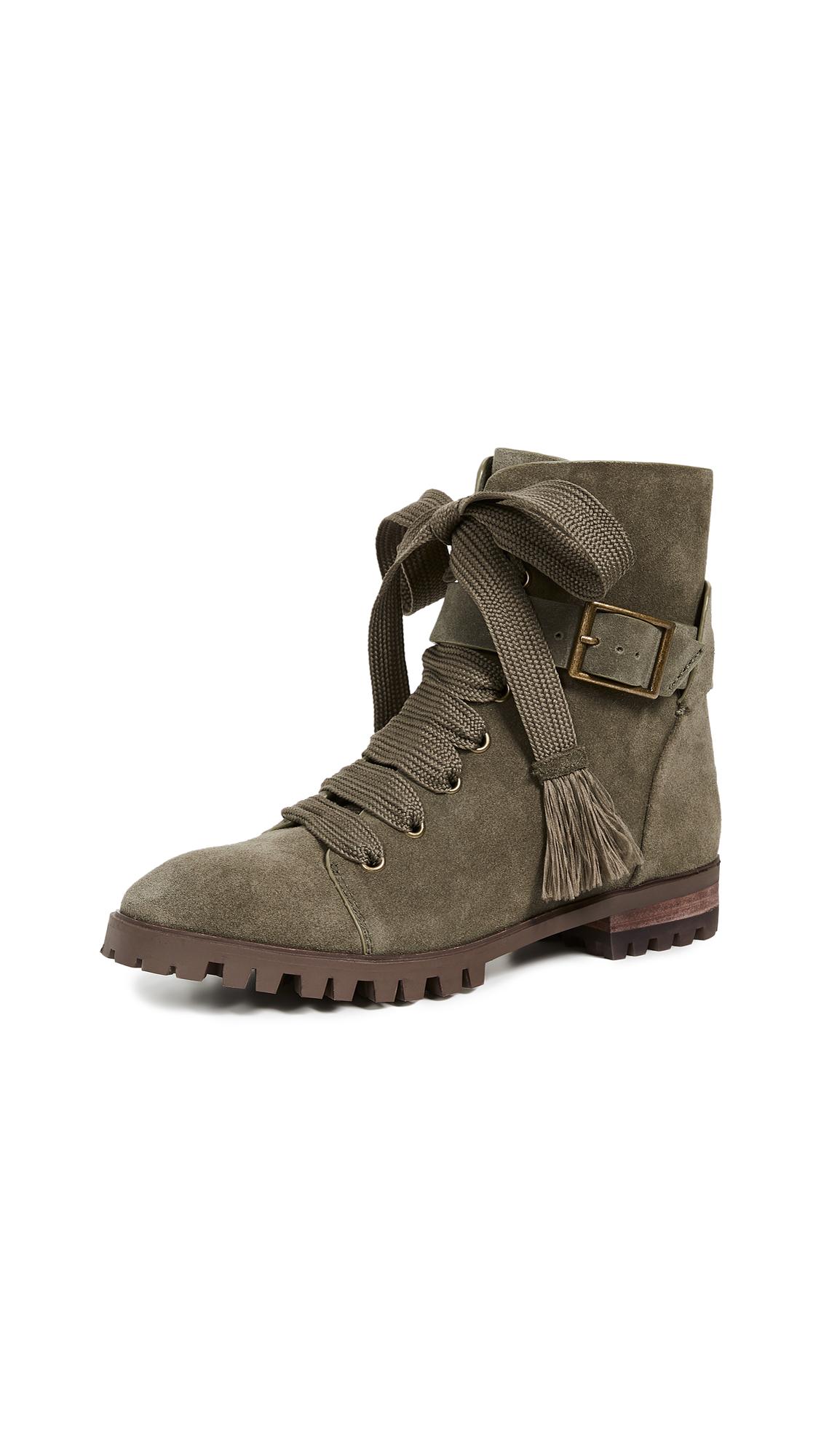 Splendid Celine Combat Boots - Fern
