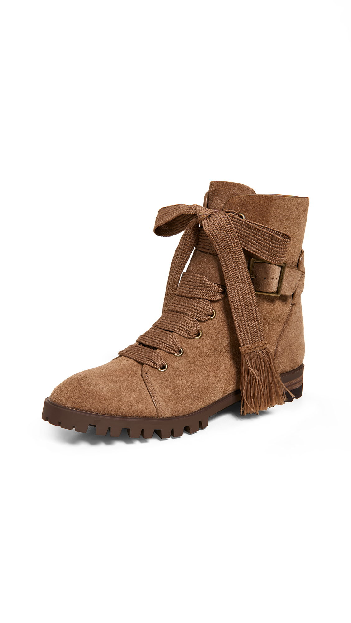 Splendid Celine Combat Boots - Light Brown