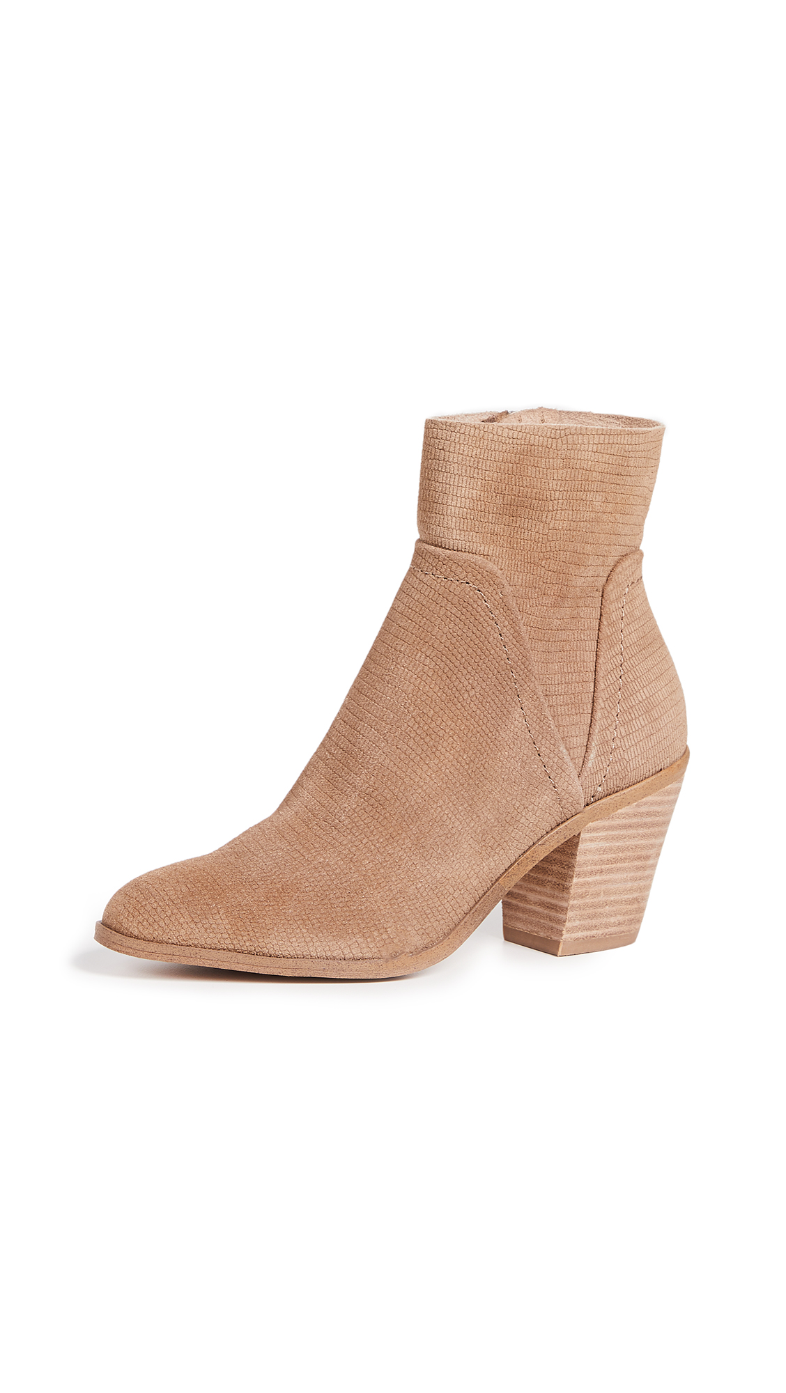 Splendid Cherie Block Heel Booties - Oat