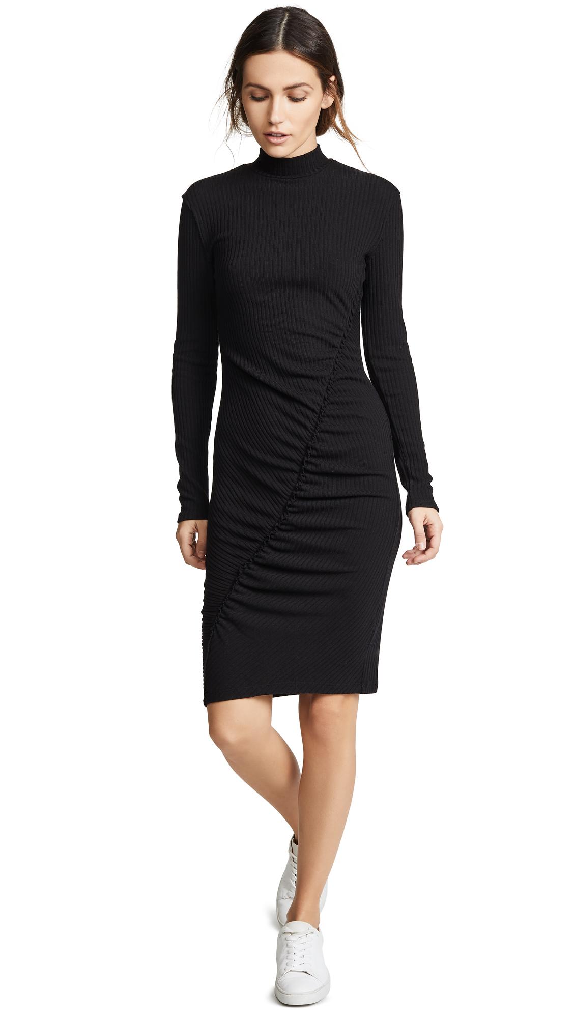 Splendid Sylvie Rib Knit Dress - Black
