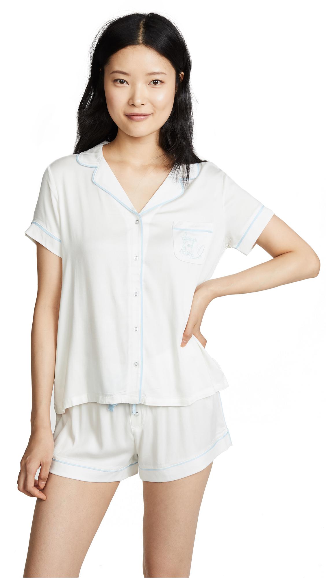 Splendid Bridal Shortie Pajama Set - Ivory