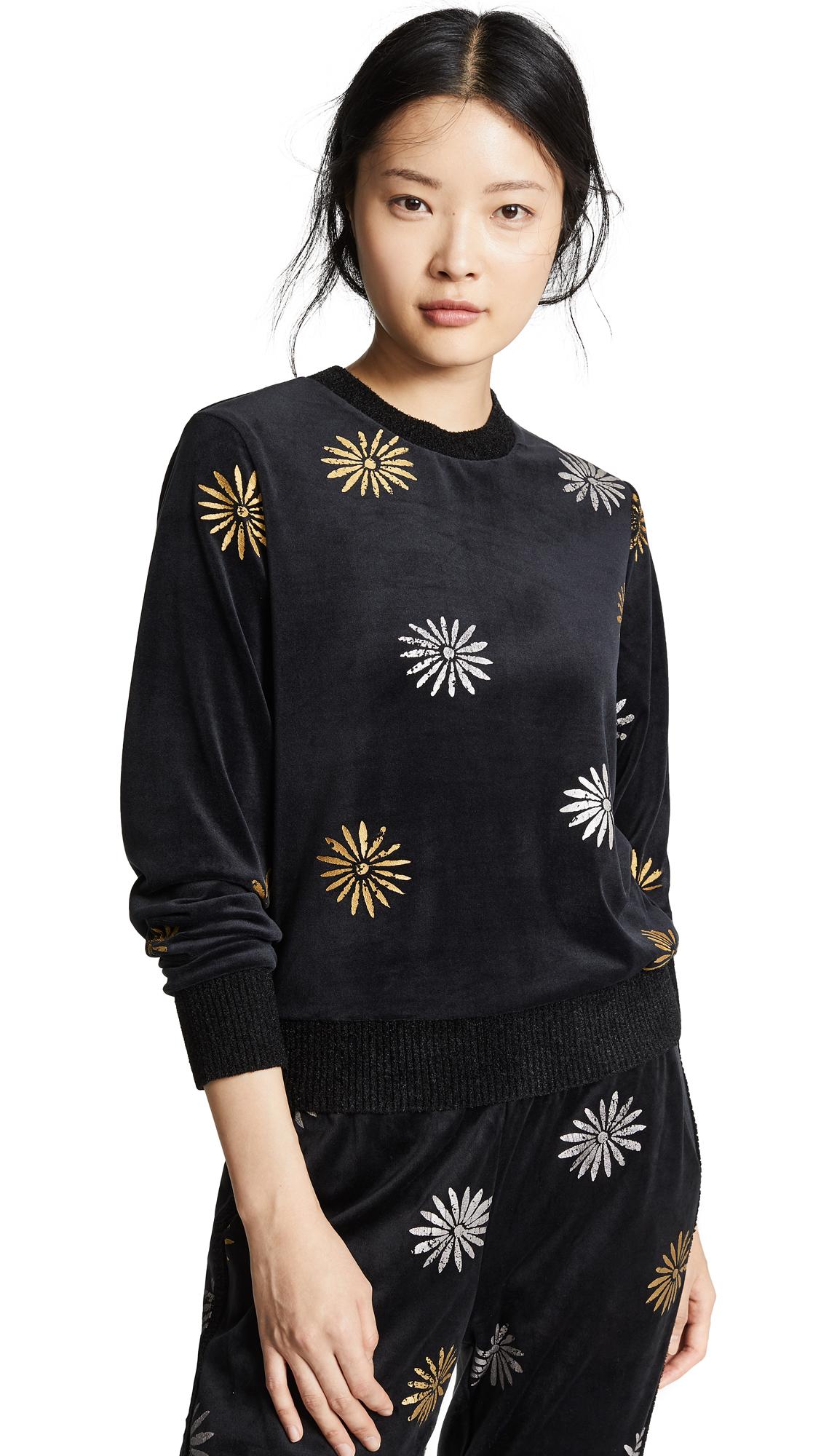 Splendid x Margherita Velutto Daisy Sweatshirt - Nero
