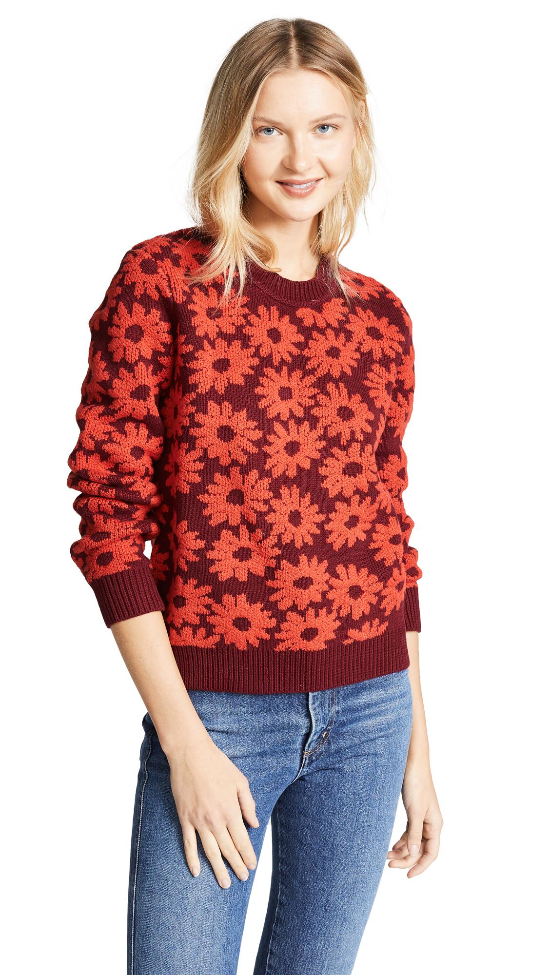 Splendid x Margherita Margherita Sweater - Rosso/Borgogna