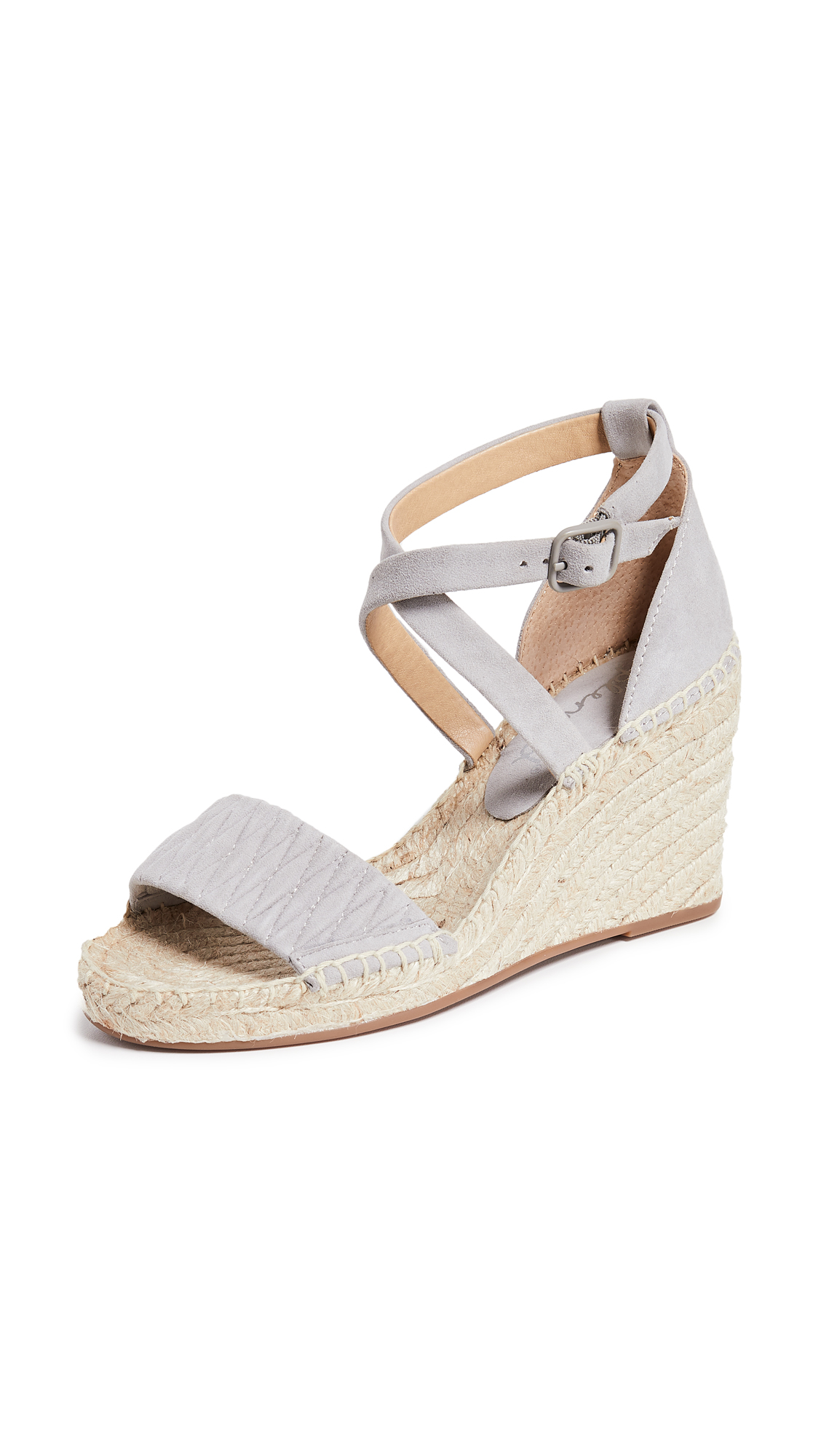 Splendid Sheri Wedge Espadrilles - Light Grey