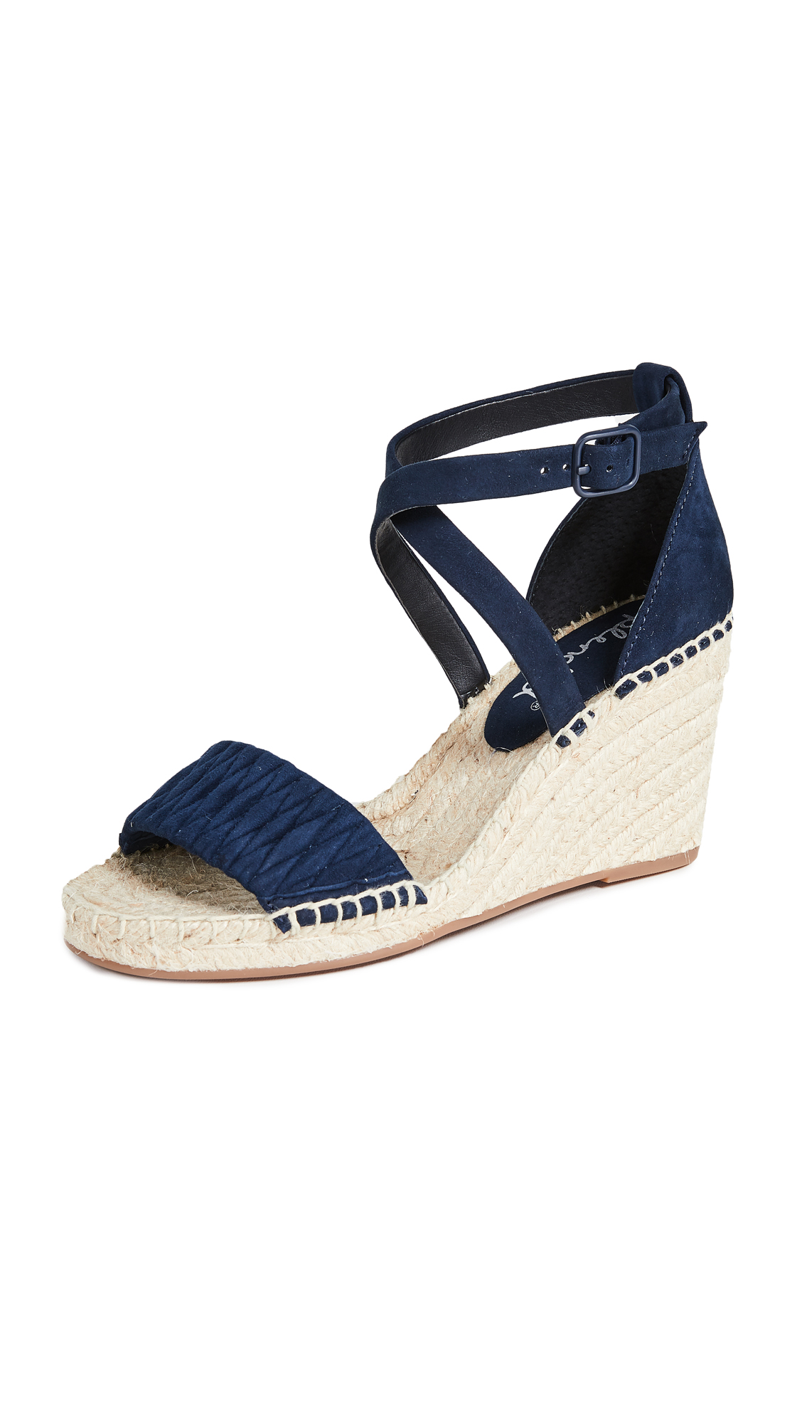 Splendid Sheri Wedge Espadrilles - Navy