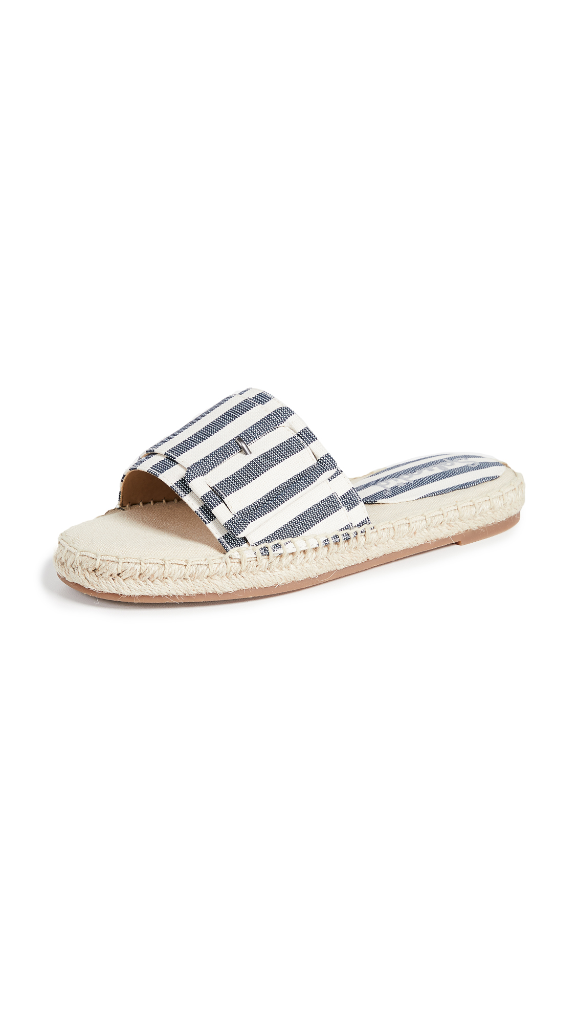 Splendid Simpson Espadrille Slides - Navy/Natural