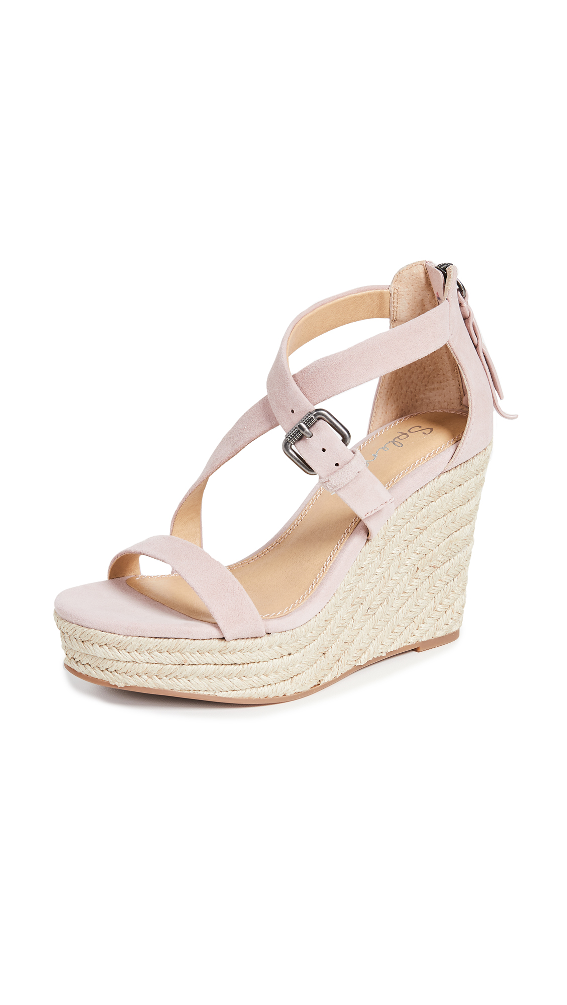 Splendid Stormi Wedge Espadrilles - Rose