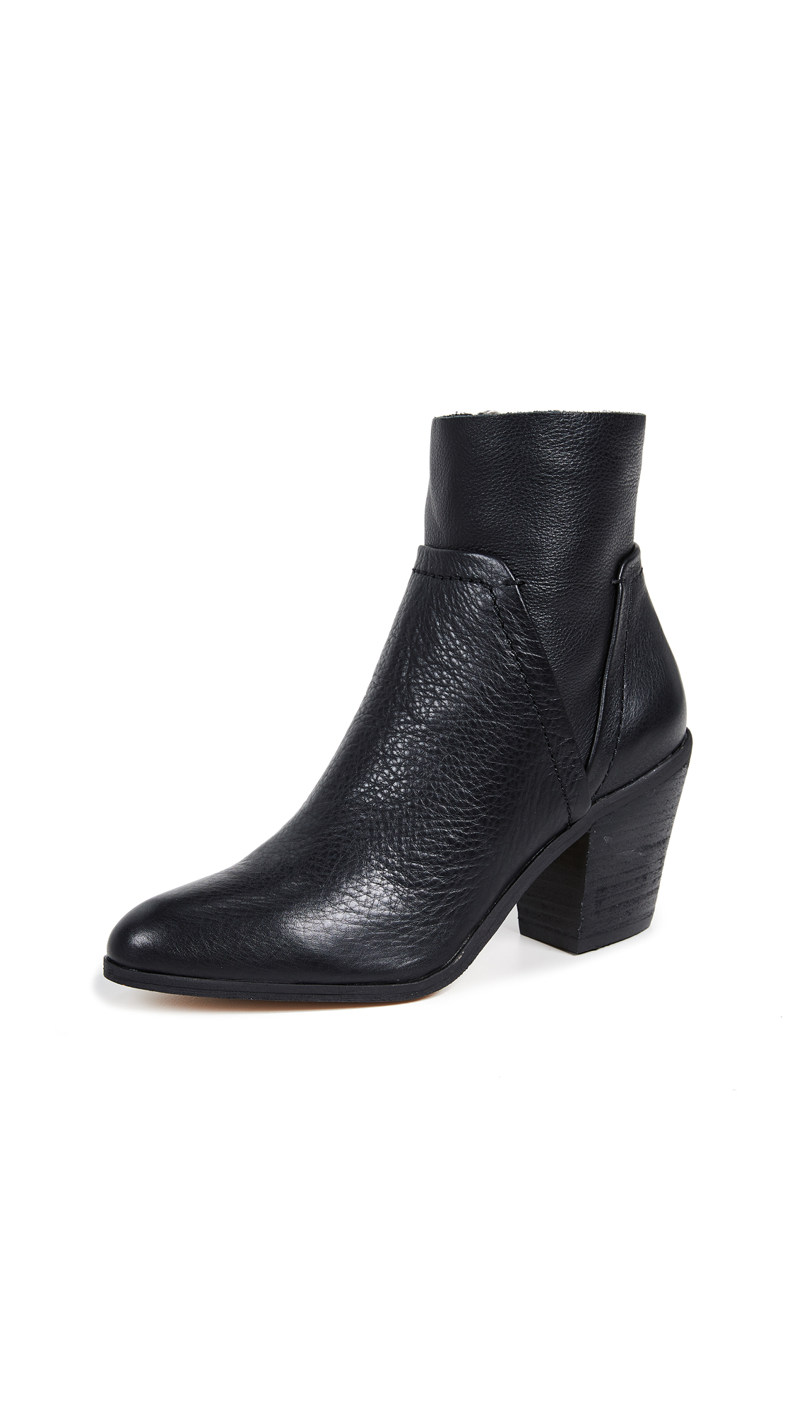 Splendid Cherie Block Heel Booties - Black