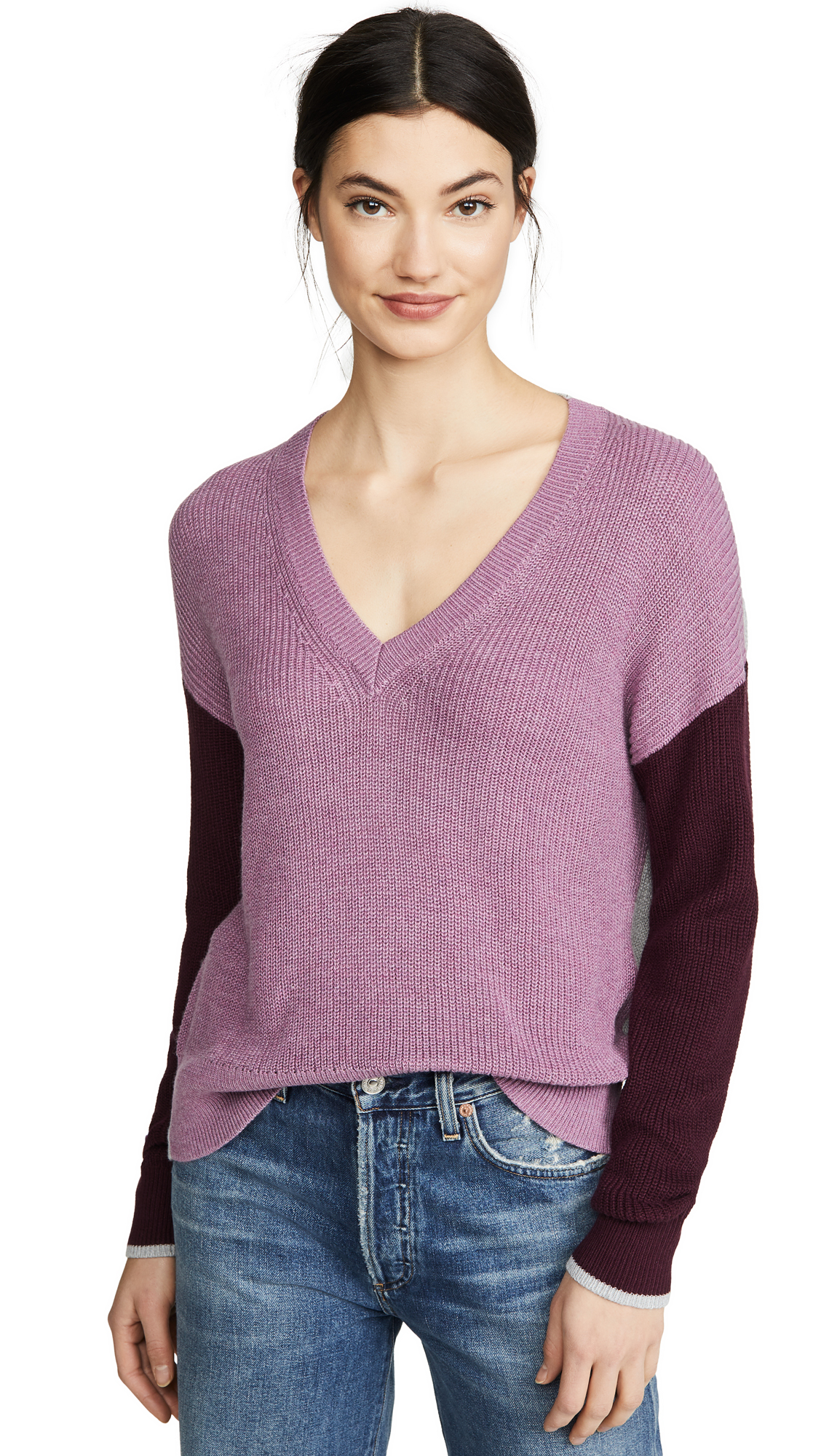 Buy Splendid online - photo of Splendid Gemma Colorblock Pullover Sweater