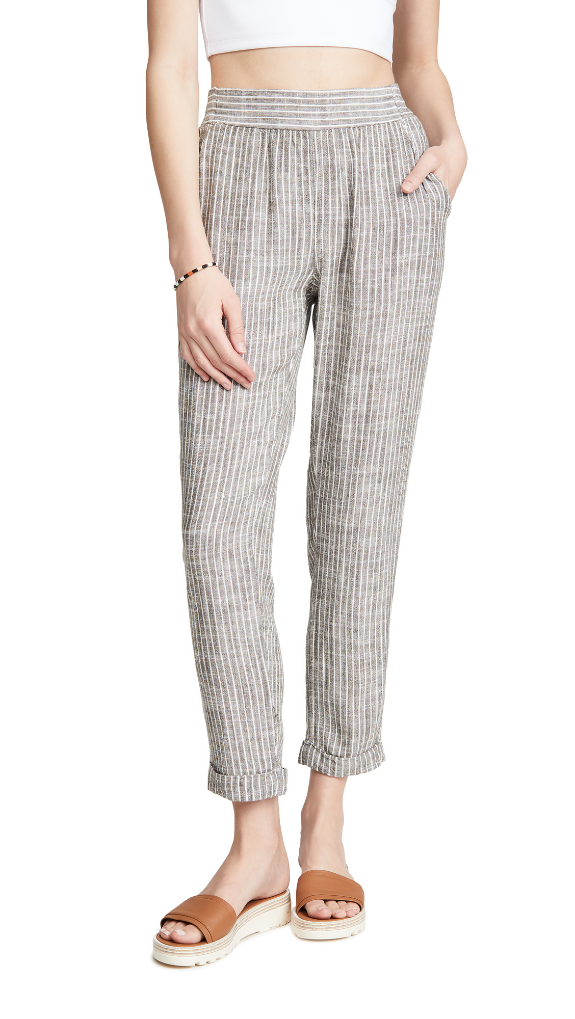 Splendid Plaid Crop Pants