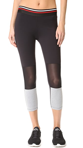 Splits59 Racer Capris - Black/Light Heather Grey