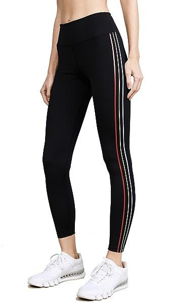 Splits59 Anchor Workout Leggings In Black/Multi Stripe