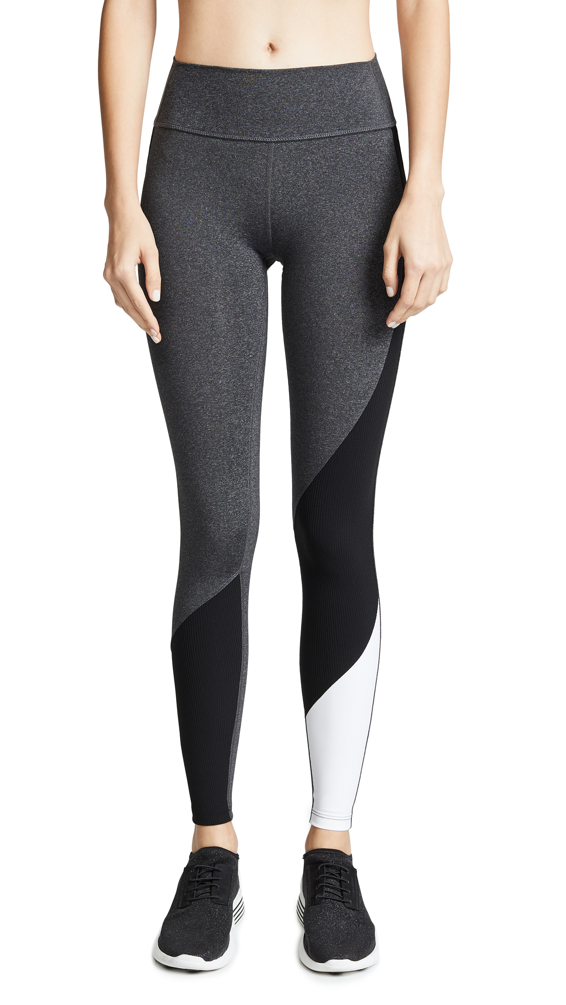 SPLITS59 All Star Tights in Heather Grey/Black/Off White