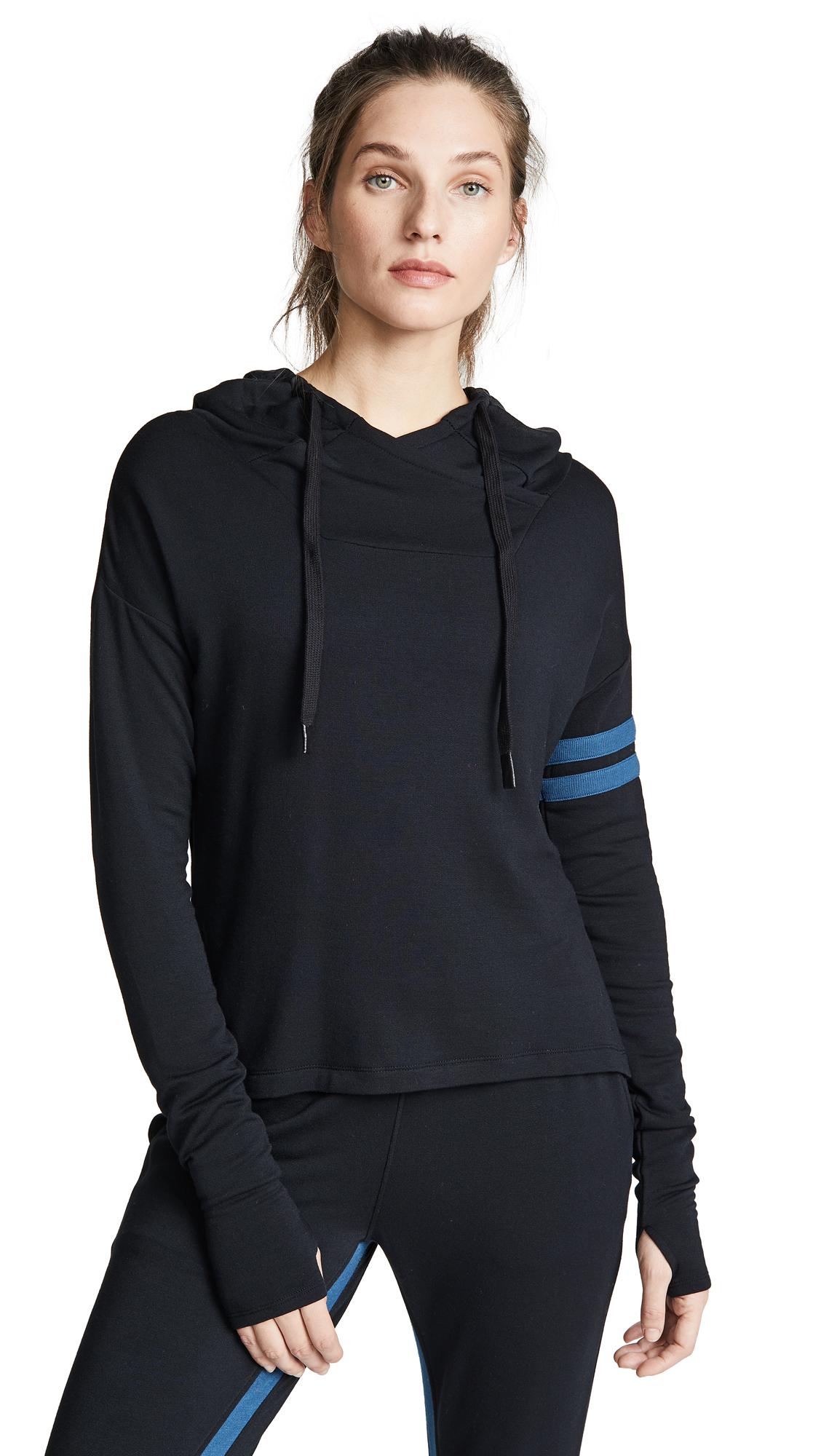 SPLITS59 Apres Pullover in Black/Dusty Blue
