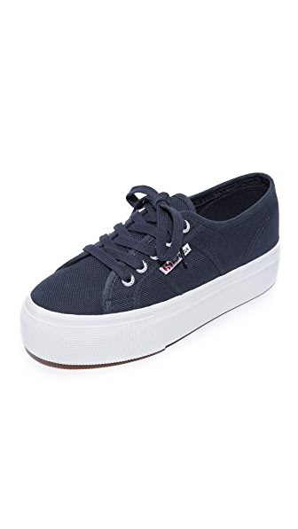 Superga 2790 ACOTW Platform Sneakers In Navy