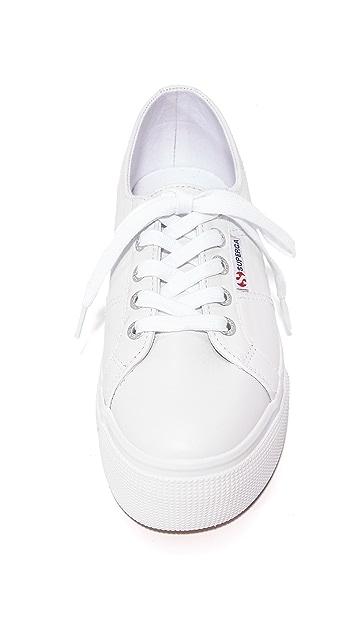 Superga 2790 Platform Leather Sneakers