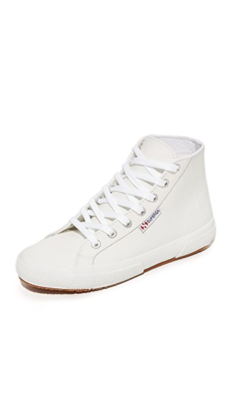 Superga 2795 Leather Hi Top Sneakers - White