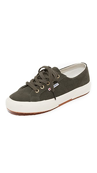 Superga 2750 Cotu Suede Sneakers - Military