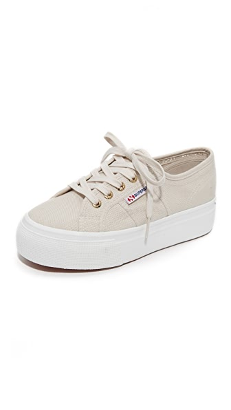 Superga 2790 Platform Sneakers - Cafe Noir