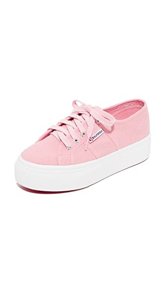 Superga 2790 Platform Sneakers In Vintage Light Pink