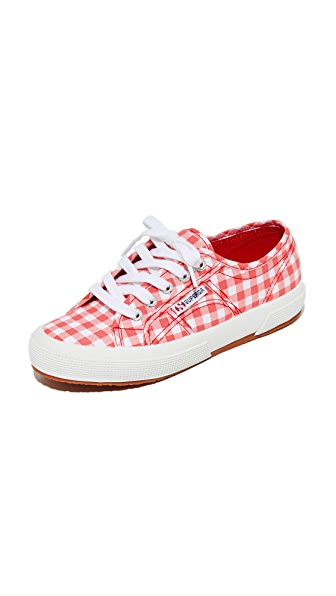 Superga 2750 Gingham Classic Sneakers - Red