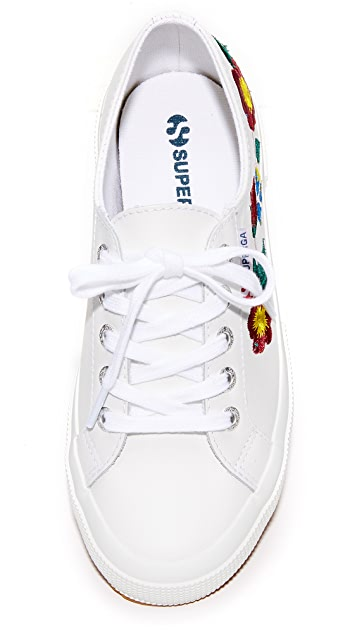 Superga 2750 Leather Embroidery Sneakers