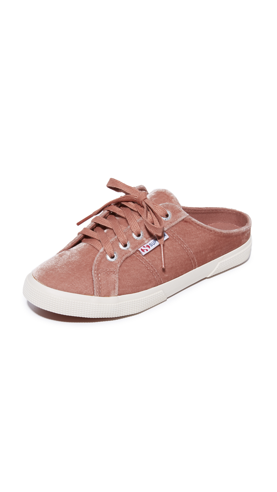 Superga 2288 Velvet Mule Sneakers - Blush