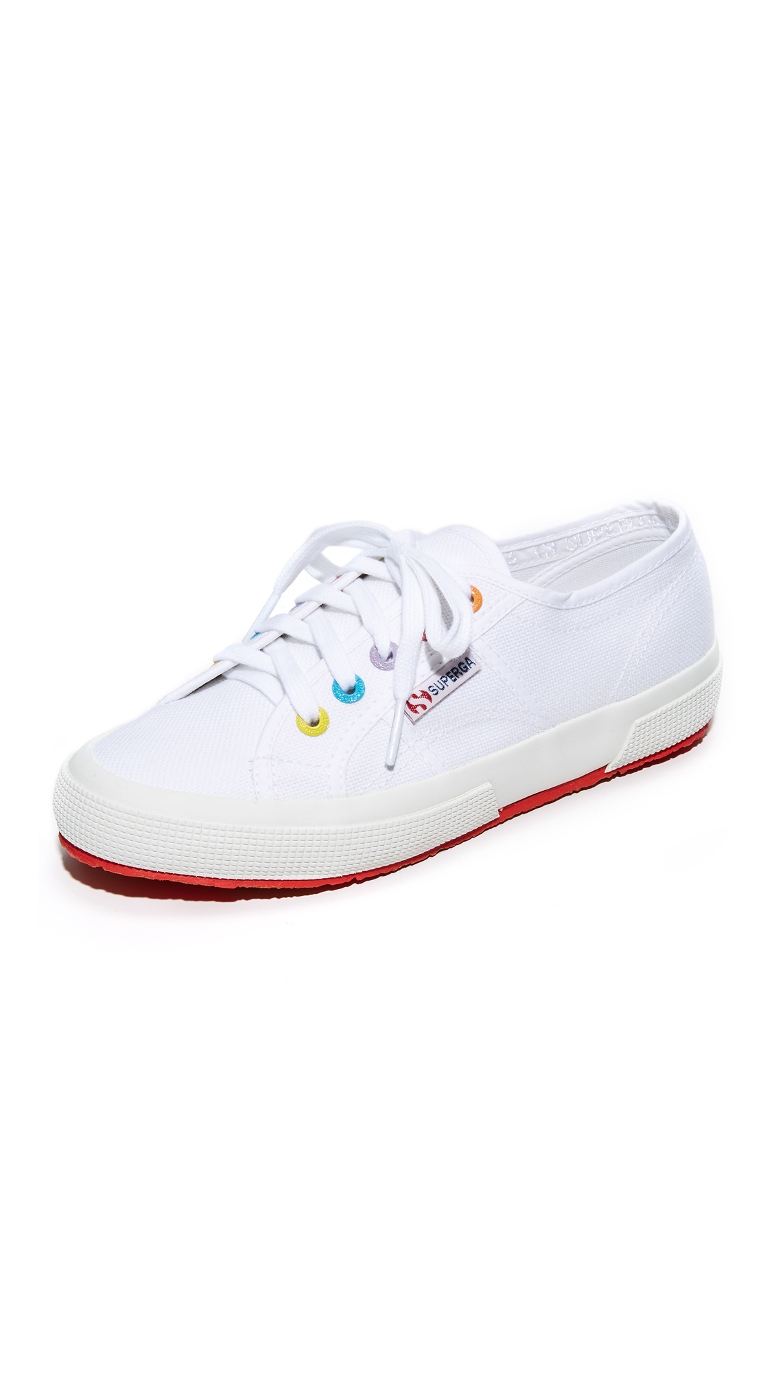 Superga 2750 Multi Eyelet Classic Sneakers - White Multi