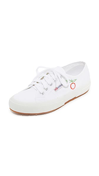 Superga Sweet As Cherries Embroidered Classic Sneakers - Cherry