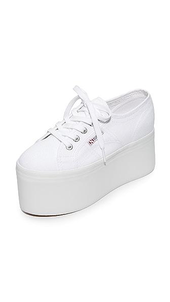Superga 2802 Canvas Super Platform Sneakers - White