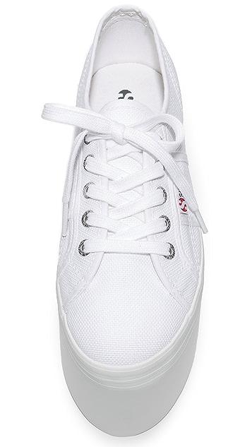 Superga 2802 Canvas Super Platform Sneakers