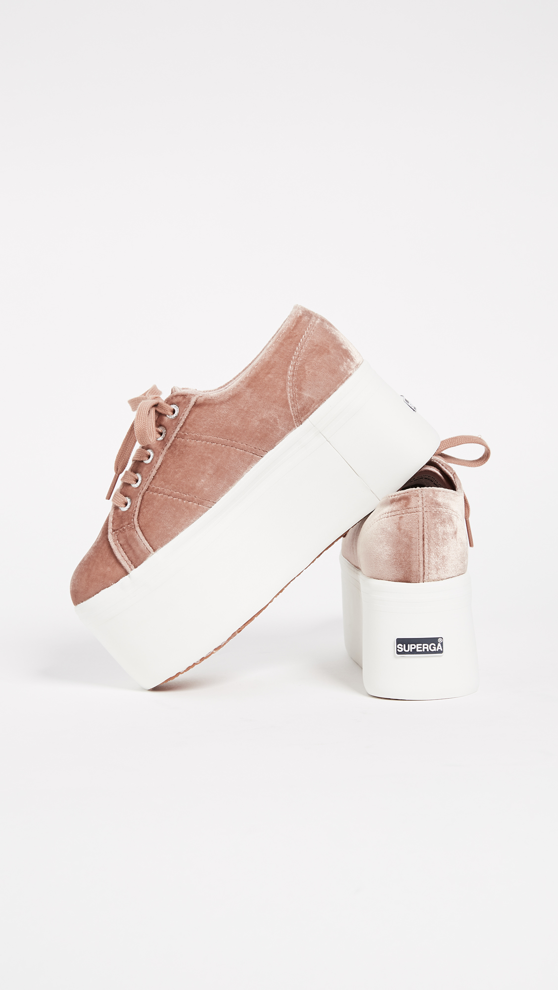 d70a7e50a83 Superga 2802 Velvet Super Platform Sneakers