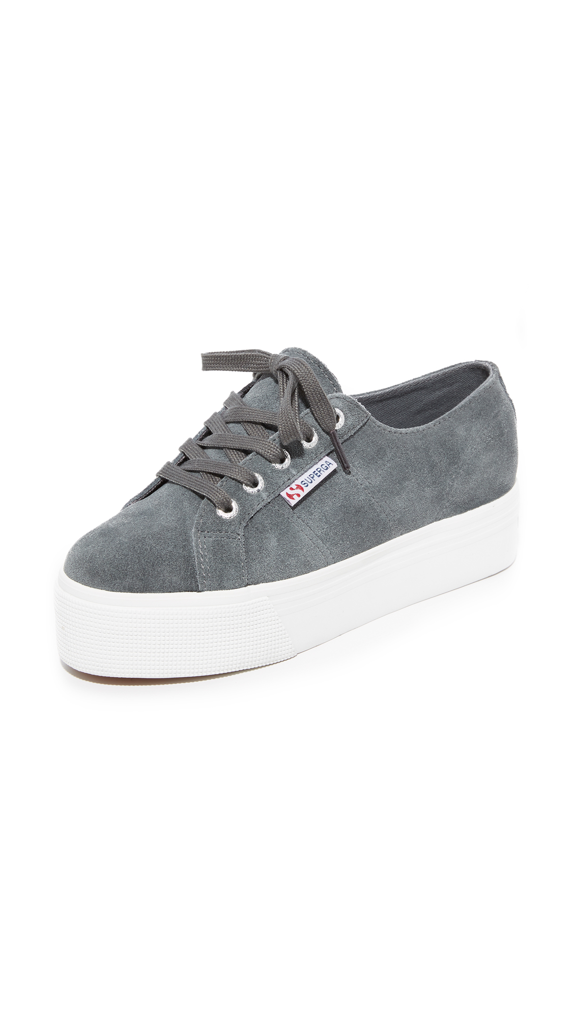 Superga 2790 Suede Platform Sneakers - Grey