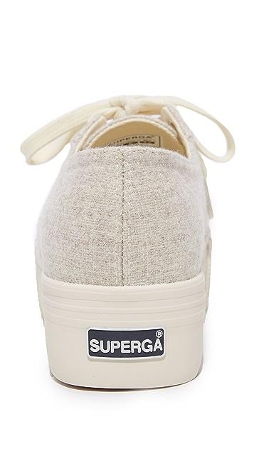 Superga 2790 Polywool Platform Sneakers