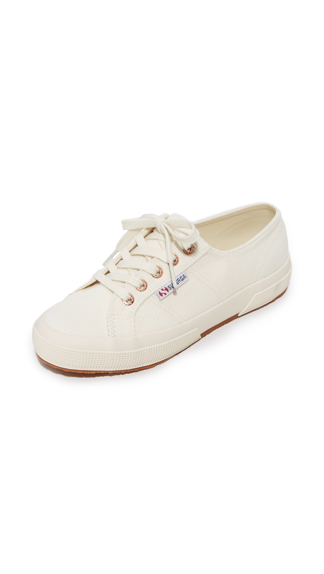 Superga 2750 Corduroy Classic Sneakers - Ivory/Gold