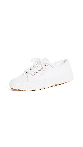Superga 2750 Cotu Classic Sneakers In White/Rose