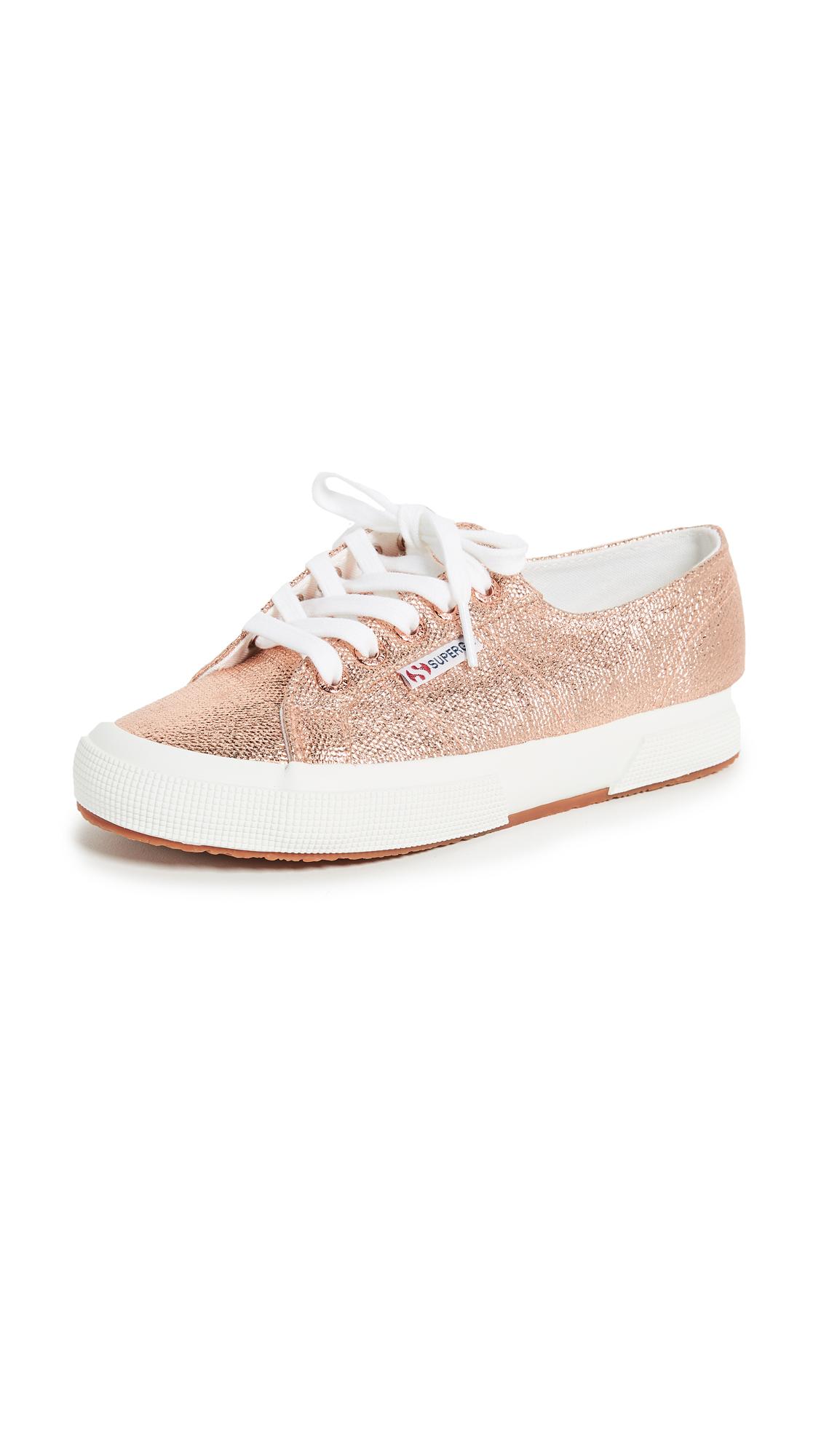Superga 2750 Metallic Sneakers - Rose Gold