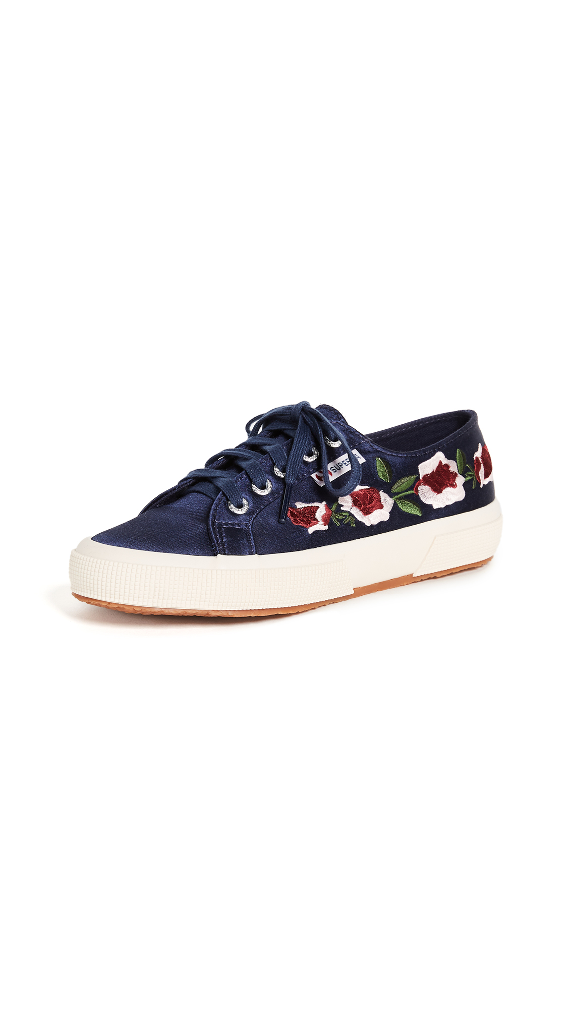 Superga 2750 Satin Floral Sneakers - Navy
