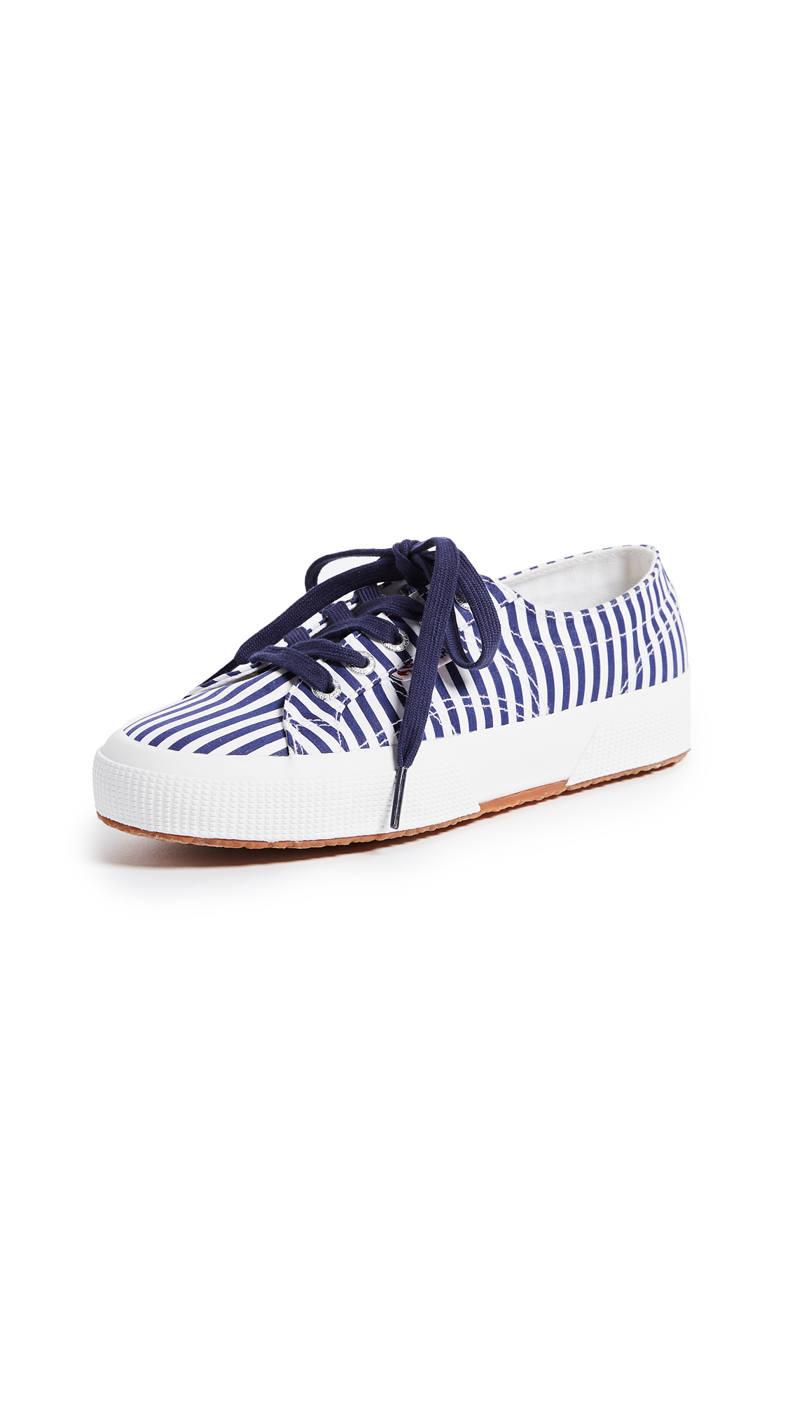 Superga 2750 Fabric Stripe Sneakers - Navy