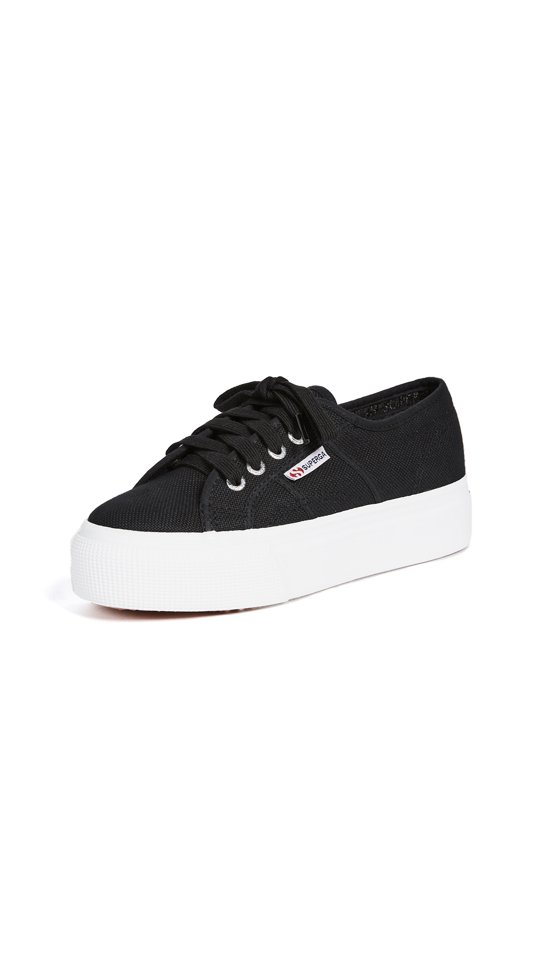 Superga 2790 ACOTW Platform Sneakers - Black/White