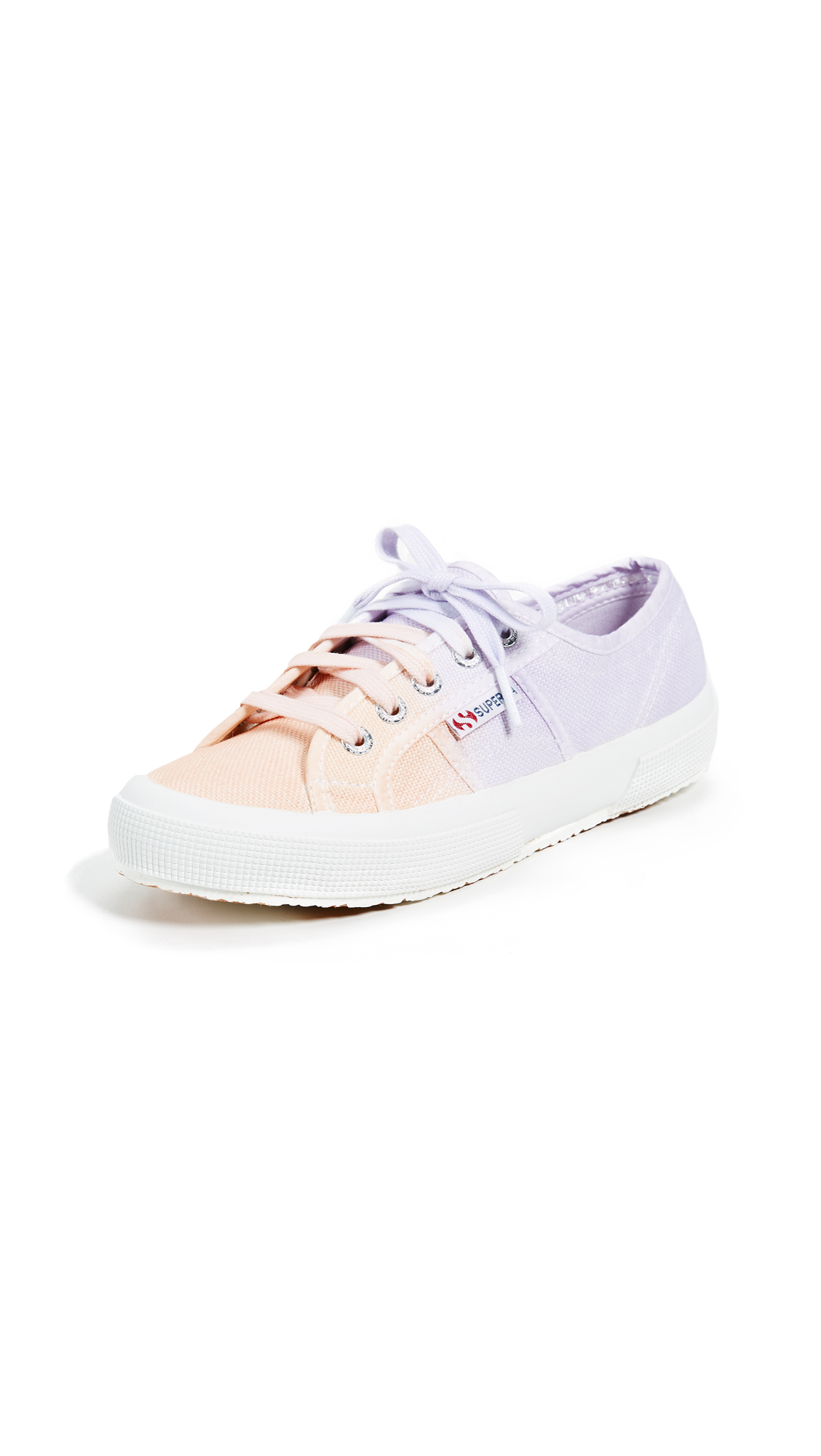 Superga 2750 Classic Lace Up Sneakers - Peach/Lavender
