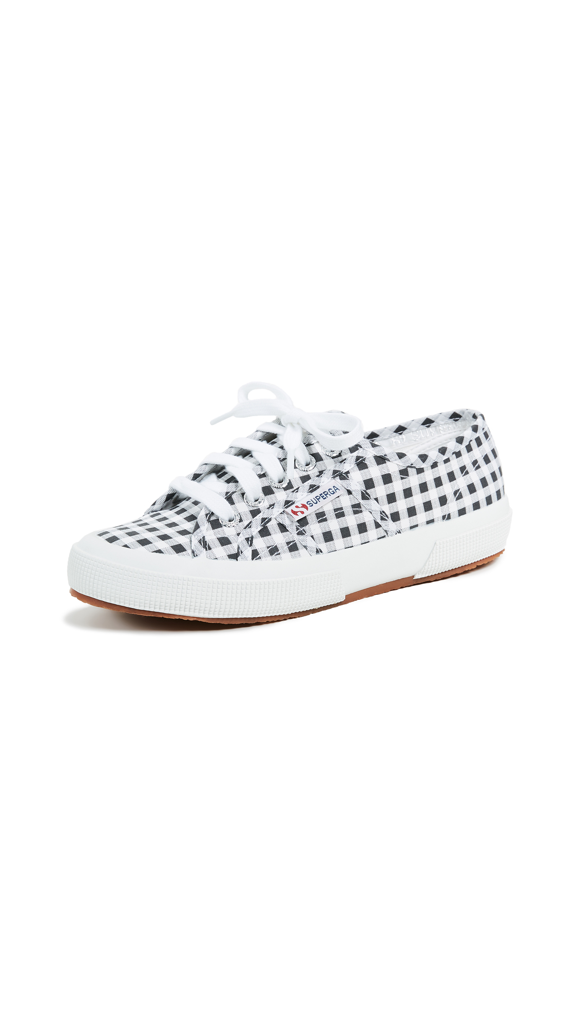 Superga 2750 Gingham Sneakers - Black