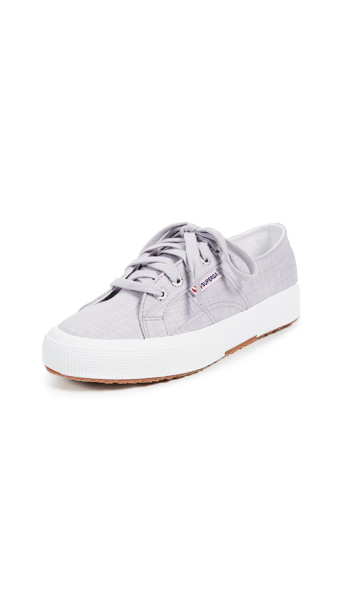 Superga 2750 Fabric Shirt Sneakers - Light Grey
